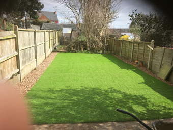 Barwell Artificial Grass Project
